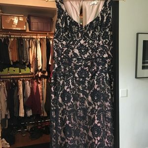 Nanette Lepore black/rose cocktail dress